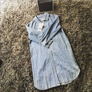 ❌SOLD❌ Long denim shirt